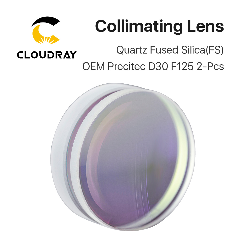 Sphärische Fokussierung Objektiv D28 D30 D37 F75 F100 F125 1 stücke Precitec OEM Quarz Quarzglas für Hohe Energie Faser laser 1064nm