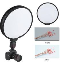купить Foldable Camera & Photo Accessories 40cm Round Disc Softbox Flash Diffuser For Camera Flash Speedlite Speedlight Mayitr по цене 366.94 рублей