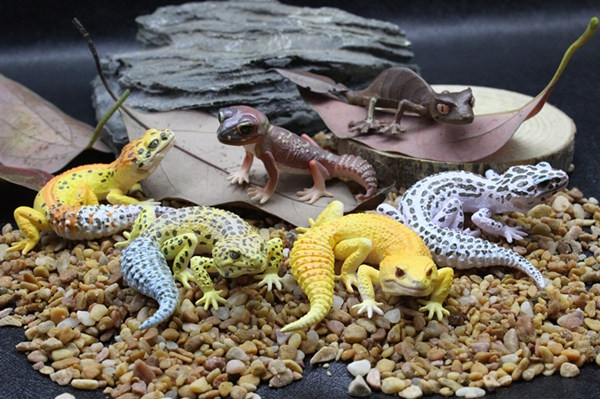 pvc figure Doll model toyLizard Gecko Shougou Kissing Erotic Reptile Model 6pcs/set the kissing gate