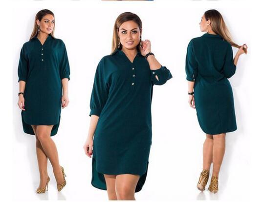 Fashion Women Long Shirts Blouses Elegant Ladies Chiffon Blouse Tops Fashion Social Tunic Office Work Wear XL-6XL