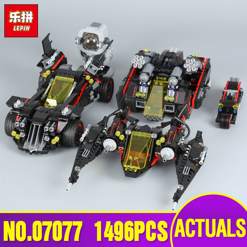 Lepin 07077 Genuine Batman Movie Series The Ultimate Batmobile Set Educational Building Blocks Bricks Toys Model Legoing 70917 new 1628pcs lepin 07055 genuine series batman movie arkham asylum building blocks bricks toys with 70912 puzzele gift for kids