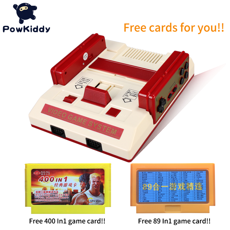 New Video Game Console To TV With Wireless Gamepad Controller HD TV Out For 8 bit Family TV game with free two game cards new tv engf9304gf engf9304