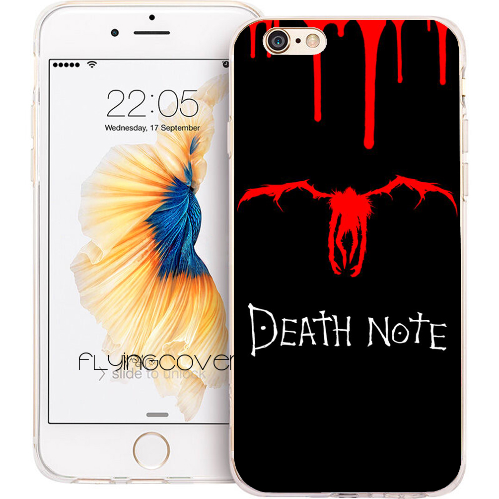 Fundas Death Note Anime Phone Cases For IPhone 10 X 7 8 6