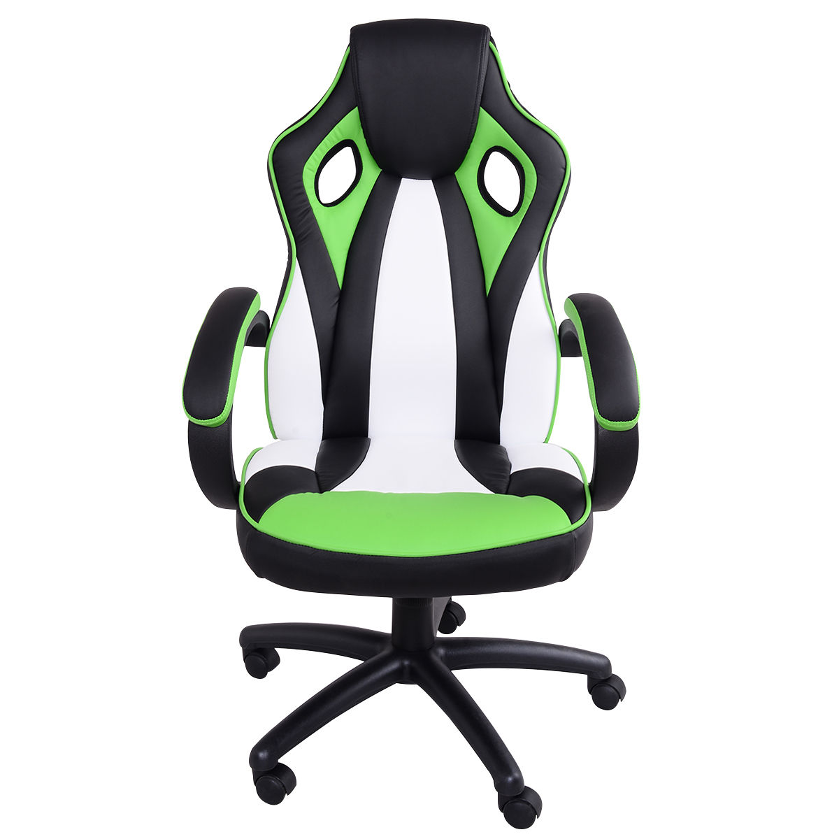 Giantex Executive Racing Office Chair High Back PU Leather Swivel Ergonomic Computer Chair Modern Gaming Chairs HW55036 240340 high quality back pillow office chair 3d handrail function computer household ergonomic chair 360 degree rotating seat