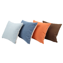 Decorative Square Pillows Cushion 40x40cm Solid Color linentte Pillow(China)