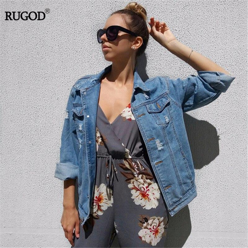 Women Basic Coats Spring And Autumn Women Denim Jacket 2018 Vintage Long Sleeve Loose Female Jeans Coat Casual Girls Outwear 1