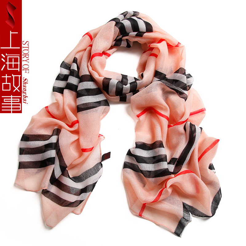 175*45 cm fashion striped bandana womens scarves polyester chiffon hijab scarf women sha ...