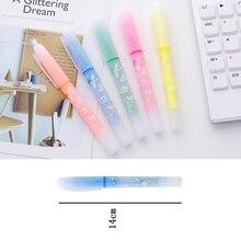 Фруктовый одур хайлайтер флуоресцентный фломастер яркие цветные маркеры Студенческая флуоресцентная цветная водная ручка маркер цветная граффити ручка