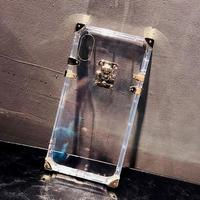 Luxury Brand Clear Gold Design Phone Case Cover For IPhone X 8 7 6 6S Plus
