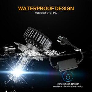 Image 4 - Zdatt H7 ledランプH4 led H8 H9 H11アイスランプH27 880車のライト9005 HB3 ledヘッドライト12000LM 100ワット6000 18k 12v自動車ランプ