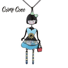 Cring Coco 2019 Statement Necklace Women Fashion Doll Chain Choker Girls Jewelry Necklaces Pendants for Women Party Accessories fashion doll chain choker black metal alloy necklace women long statement chokers necklaces pendants jewelry for girls party new