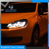 Free Shipping LED Headlights For VW Volkswagen Golf6 MK6 2010 2014 UU Style DRL Assembly