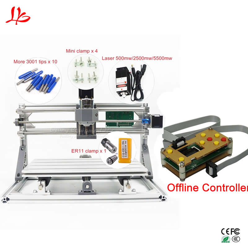CNC 3018 Pro GRBL control Diy mini cnc laser engraving machine 3 Axis pcb  Milling machine Wood Router,with offline controller