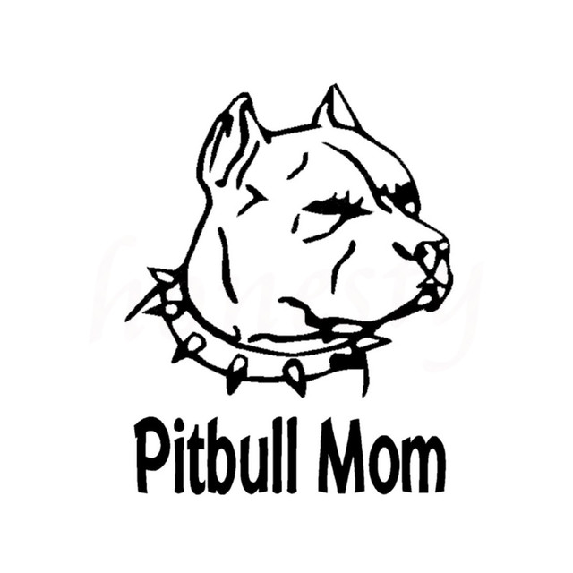 Pitbull Mom Animal Dog Car Sticker For Wall Home Glass Window Door