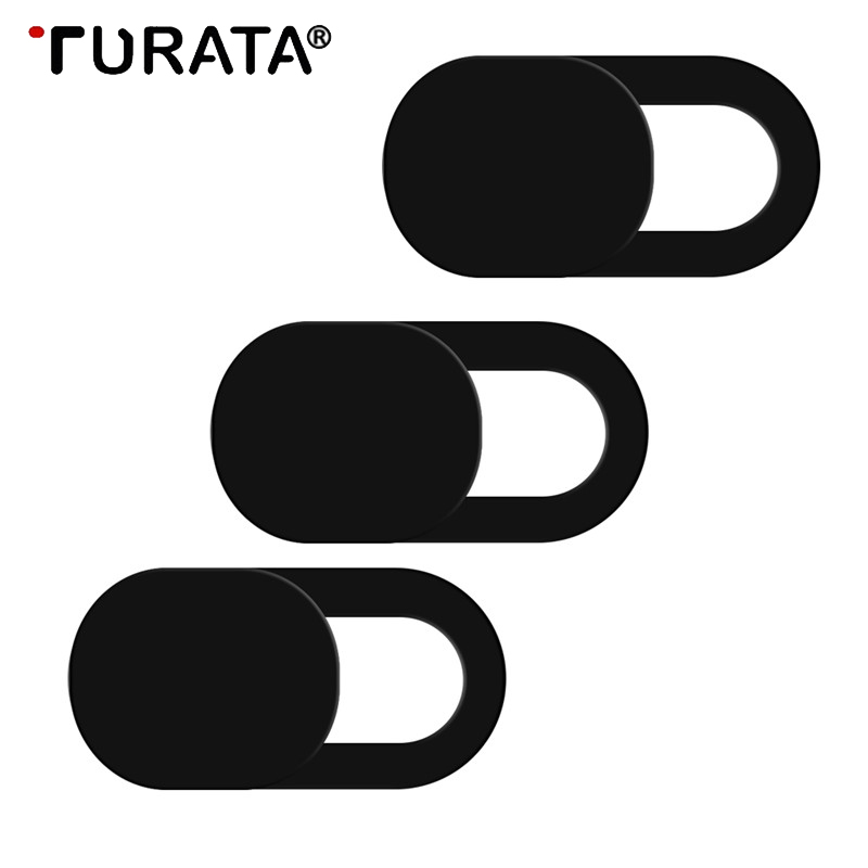 Turata WebCam Cover Shutter Magnet Slider Plastic Camera Cover for Web Cam IPhone X PC Laptops Mobile Phone Lens Privacy Sticker image