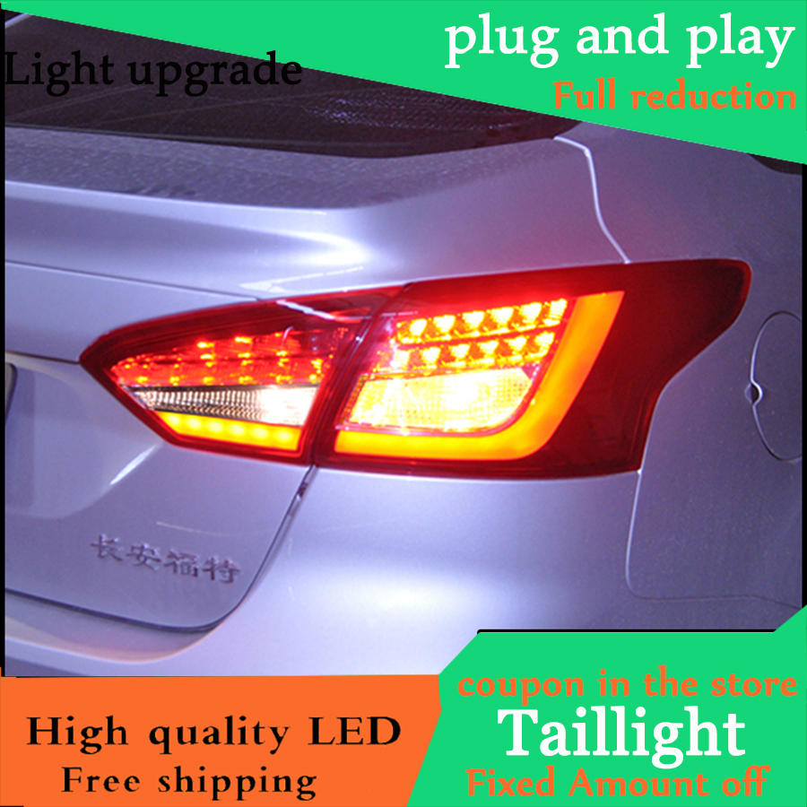 Car Styling Tail Light Case For Ford Focus Sedan Taillights 2012 2014 LED Tail Lamp Rear