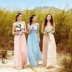Image 5 - Goedkope Plus Size Prom Dresses Lange 2020 Elegante V hals Bourgondië A lijn Robe De Soiree Sexy Lange Party Formele Jurk Voor bruiloft