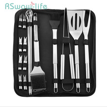 BBQ Tool Set Home Outdoor Portable Oxford Bag Stainless Steel Professional Barbecue For Household Tools