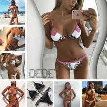 bikini 2017 New Sexy Bikinis Push Up Swimwear Women Swimsuit Retro Beach Bathing Suits Swim Wear Bikini Set Maillot De Bain 1617