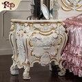 2016 nuevo diseño de la venta caliente clásica tallada muebles de madera maciza roylaty artesanía bedstand