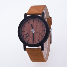 Cindiry Simulation Wooden Dial Watch PU Leather Band Sports Casual Watch For Men Women Watches Relogio