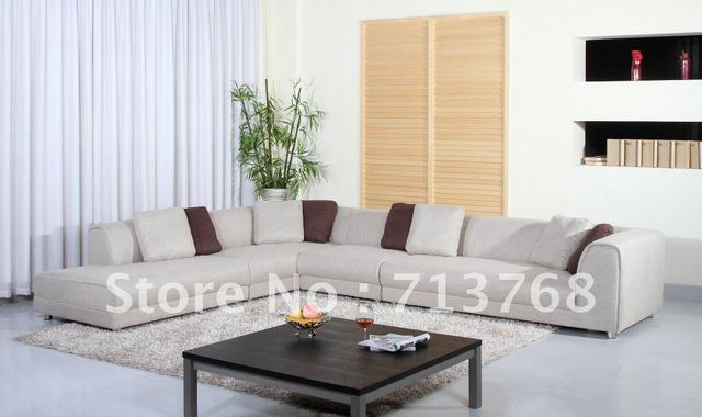 Arredamento moderno/soggiorno grande modello di divano in tessuto ...