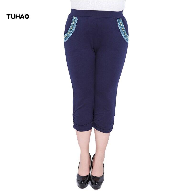 TUHAO Women   Capris     Pants   Summer 2018 Plus Size 6XL 5XL 7XL Women's office lady trousers   pant   large size Women   Pants   YH17
