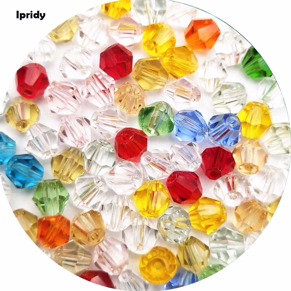 O envio gratuito de 100 pçs/lote cristal bicone contas 4mm checa solto milho novo corte facetado contas de vidro para diy jóias colar pulseira