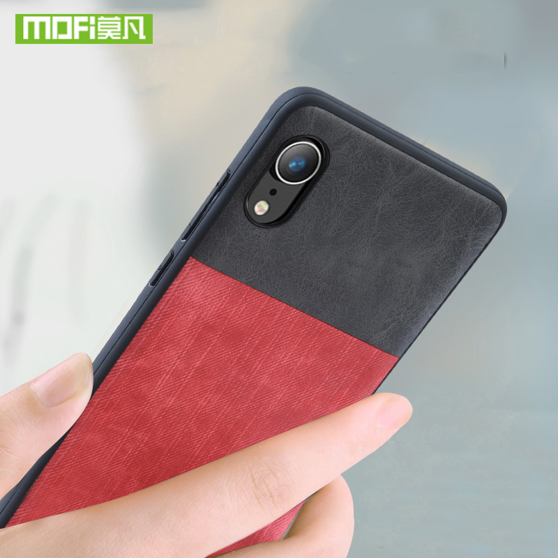 For iphone XS MAX case For iphone XS case cover silicone jeans leather original Mofi For iphone XR case shockproof XS MAX case