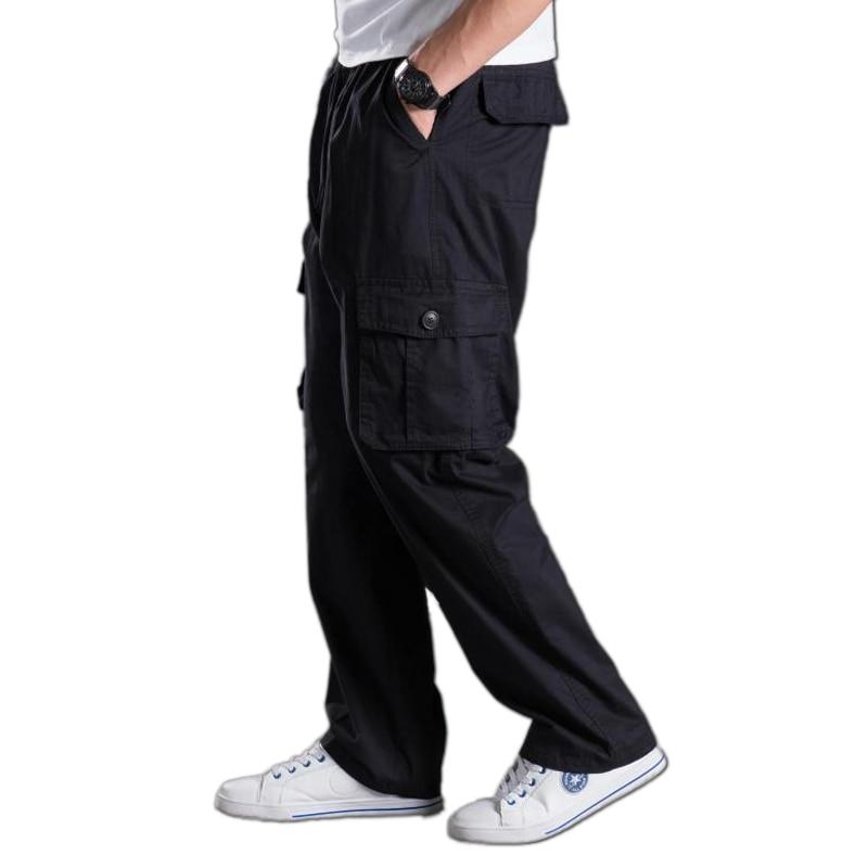 Men Plus Size Strech Pants Summer Casual Pants Male Big Size 8XL Multi Pocket Cargo Oversize Pants Waist Pants