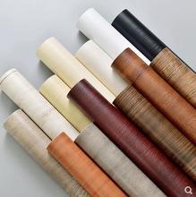 Grano di legno di auto adesivo impermeabile adesivi armadio mobili porta di legno di noce rinnovato adesivi carta da parati autoadesiva