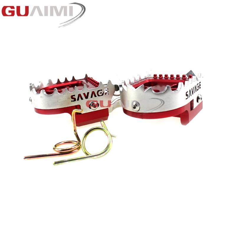 Motorcycle Adjustable Foot Peg Tilt Angle Foot Rests Accessories For Kawasaki KX250F KX125 KX450F KLX650 KX 125 250 KLX 650 m5x0 8 fork air bleeder for kawasaki kx klx kdx 65 85 125 140 250 450 kx250f kx450f