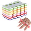 12pcs/set Soft 2 Side Different Color Nail Art Sponge Toe Finger Separator Flexible 6 Pair Foot Hand Care Manicure Pedicure Kit