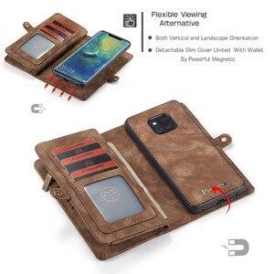 Image 4 - Pour Coque Huawei P30 Lite étui de luxe à fermeture éclair portefeuille Folio couverture magnétique étui en cuir véritable pour Huawei P20 Lite P30 Pro P20