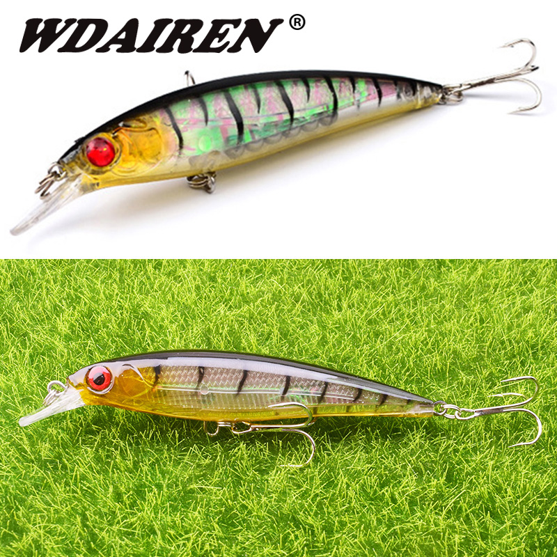 1Pcs Minnow Fishing Lures 110mm 13.5g Wobblers Crankbaits Artificial Hard Baits Hooks 3D Eyes For Fishing Carp Pesca Isca FA-219