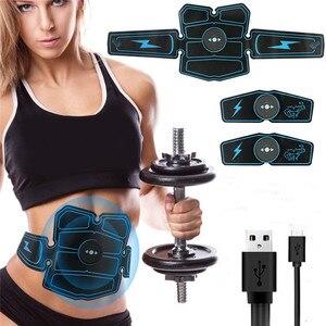 Image 1 - 8 sztuk bezprzewodowy stymulator mięśni trener inteligentny trening brzucha szkolenia elektryczne odchudzanie naklejki wyszczuplanie ciała pas Unisex