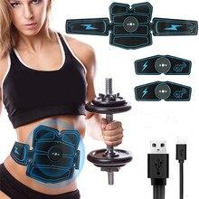 8 шт. беспроводной тренажер для стимуляции мышц умный фитнес тренажер для брюшного пресса Электрические наклейки для потери веса пояс для похудения унисекс