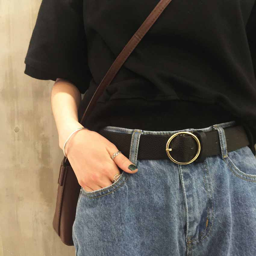 Women Girl Fashion Simplicity Wide Waist Belt Elastic Stretchy Decoration Girdle