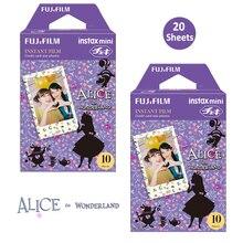 Fujifilm Instax Mini película en Color 20 impresiones (2 paquetes) Alicia en el país de las Maravillas instantánea para Mini 11 8 90 25 70 cámara de fotos SP 2