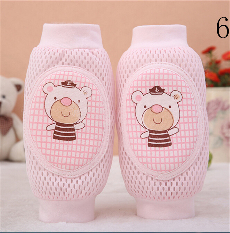 Casual Toddler Safety Knee Pad Baby Animal Mesh Sock Elbow Pads Kid Baby Crawl Kneecaps Baby Leg Warmers 16*17cm