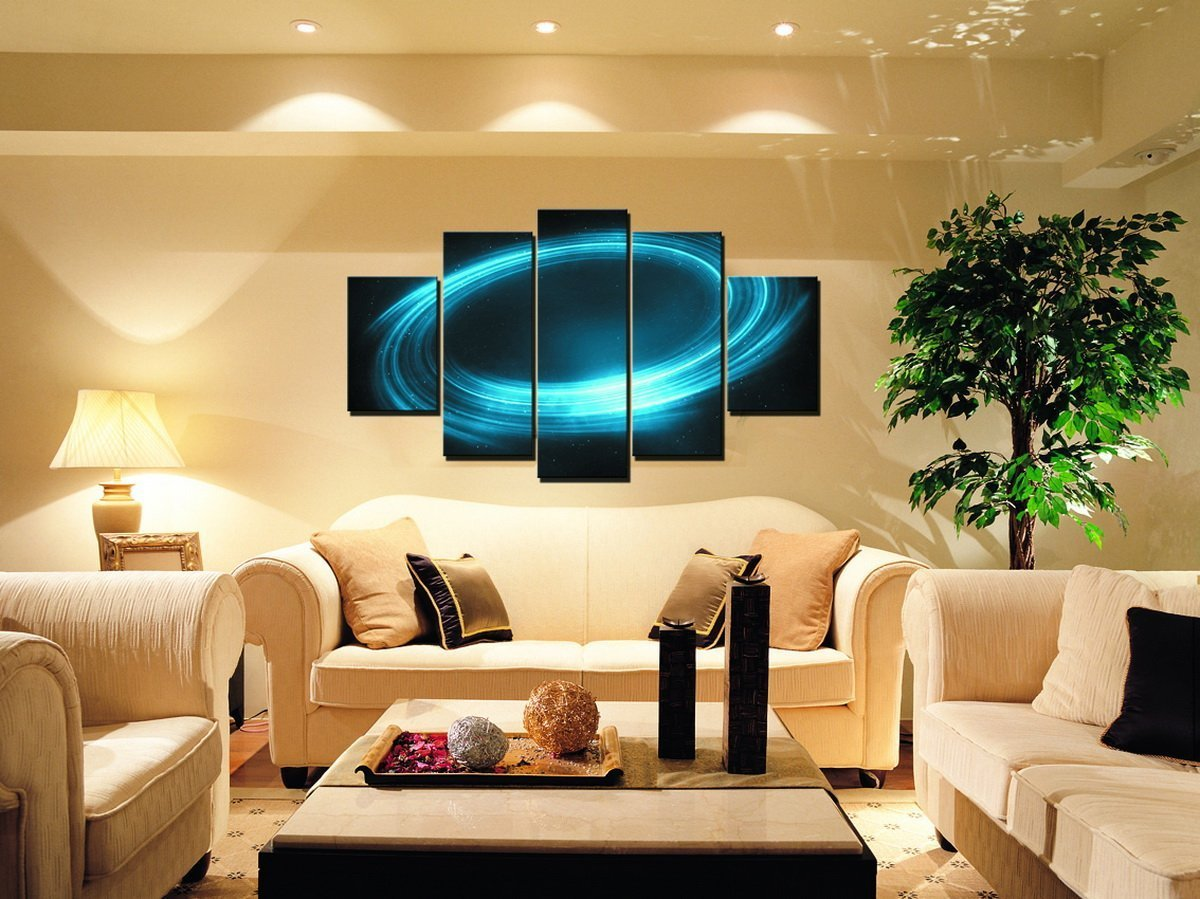 5 Pieces Frameless Canvas Photo Prints Mysterious Universe Galaxy ...