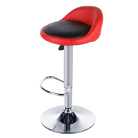 Homdox 2pcs Synthetic Leather Rotating Adjustable Height Bar Stool Chair Stainless Steel Stent 4 Colors