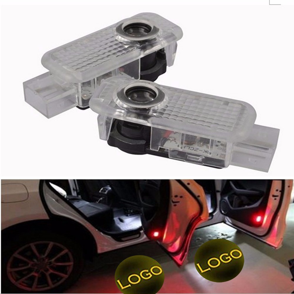 2 pz wireless door light mark of led projector laser yourself for Audi subaru toyota corolla nissan citroen c5 car welcome lamp