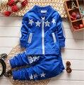 BibiCola Conjuntos de Roupas de moda bebê meninos/meninas natal conjunto de treino de manga longa crianças outfits ternos estrela cardigan terno dos esportes