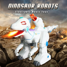 Dinosaur Robots Walking Dinosaurs Electronic Music Dinosaurio Toys Interactive Remote Toys Interactive Robots Toy RC Robot(China)