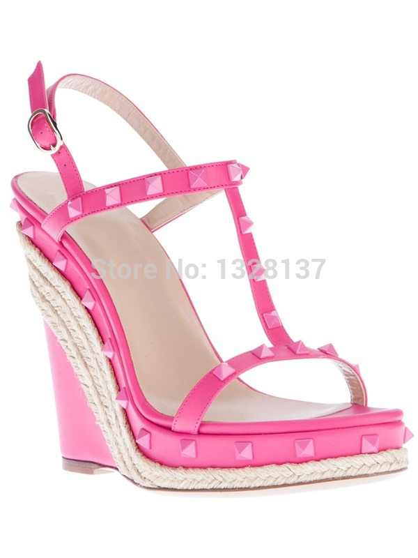 Bright Pink Flat Shoes