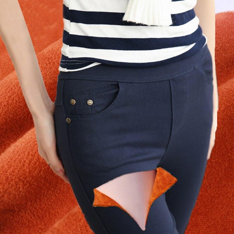 2018 Hiver Plus La Taille 7XL Velours Leggings Femmes Pantalon Noir Marine Bleu Punk Épais Jeggings Mode Taille Haute Legging Pantalon