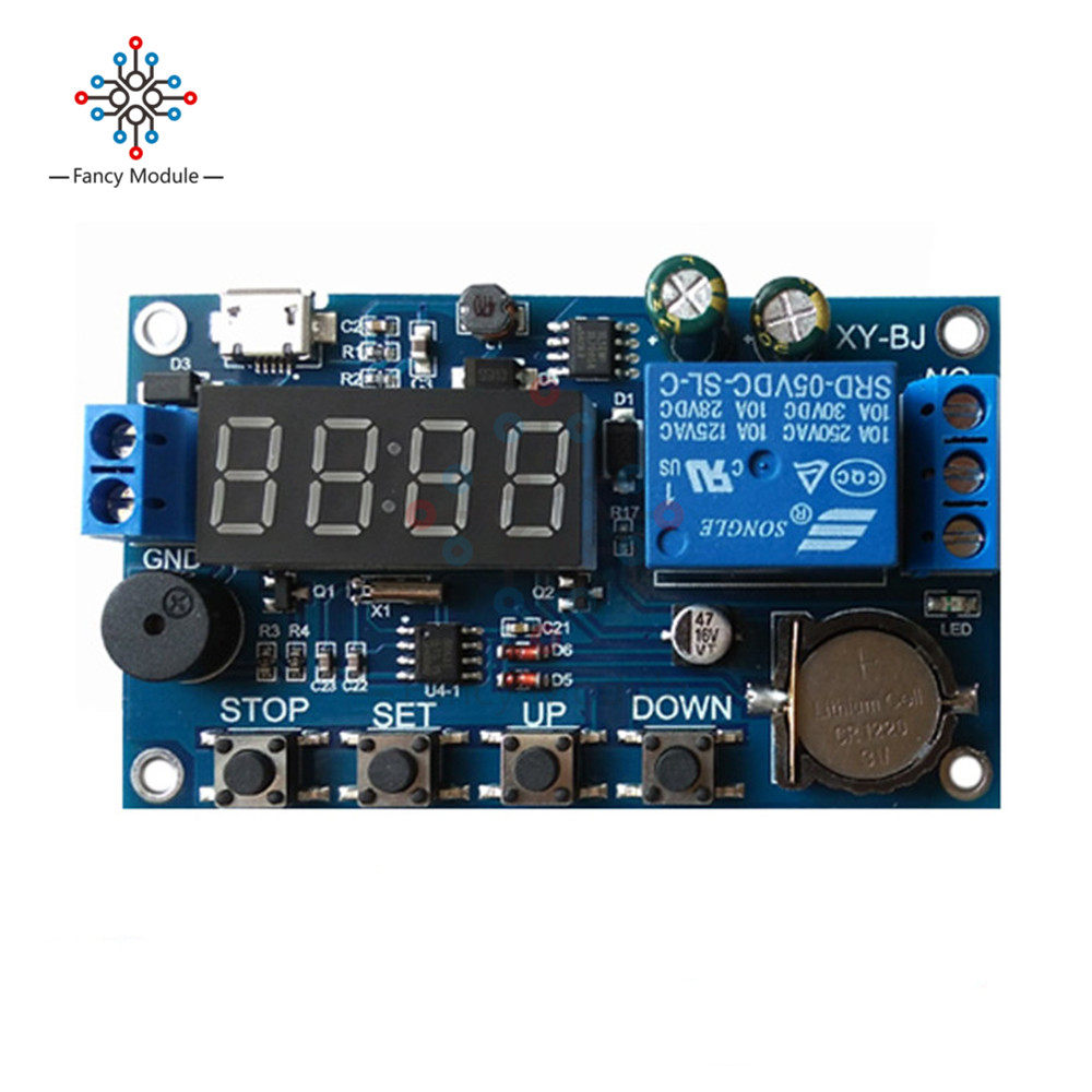 Online Shop Dc 5v Real Time Timing Delay Timer Relay Module Switch On Wiring Diagram Control Clock Synchronization Multiple Mode