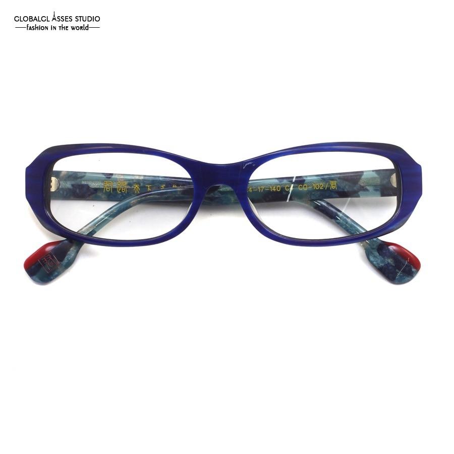 Oval Lens Handmade Glasses Frame Women Blue Color Red & Navy Color ...