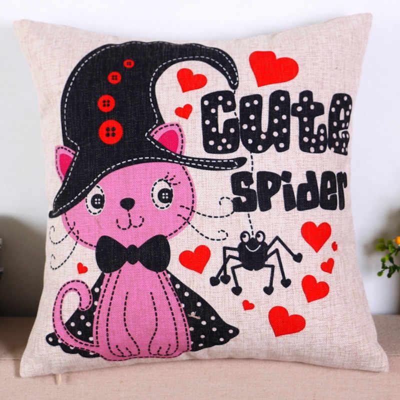 Atacado presente de casamento do jardim de infância Bonito rosa azul baleia animal gato pássaro capa de almofada decorativa início pillow decor sofá caso